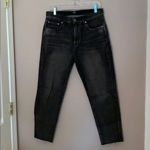Gap black light wash girlfriend jeans